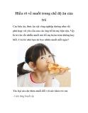 Hiểu rõ về muối trong chế độ ăn của trẻ