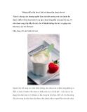 Những điều cần lưu ý khi sử dụng sữa chua cho trẻ