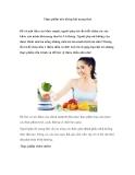Thực phẩm nên kiêng khi mang thai