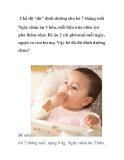 """Chế độ """"đủ"""" dinh dưỡng cho bé 7 tháng tuổi"""