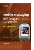 Mobile messaging technologies and services sms ems end mms phần 1