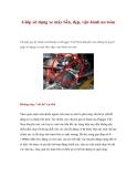Giúp sử dụng xe máy bền, đẹp, vận hành an toàn