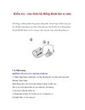 Kiểm tra - sửa chữa hệ thống đánh lửa xe máy
