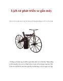 Lịch sử phát triển xe gắn máy