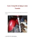 Lưu ý trong khi sử dụng xe máy Yamaha