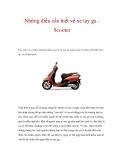 Những điều cần biết về xe tay ga Scooter
