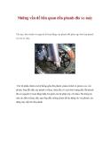 Những vấn đề liên quan đến phanh đĩa xe máy