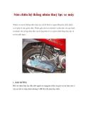 Sửa chữa hệ thống nhún thuỷ lực xe máy