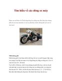 Tìm hiểu về các dòng xe máy