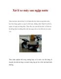 Xử lí xe máy sau ngập nước