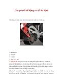 Các yếu tố để động cơ nổ ồn định