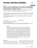 """Báo cáo sinh học: """"Genomic scan for quantitative trait loci of chemical and physical body composition and deposition on pig chromosome X including the pseudoautosomal region of males"""""""