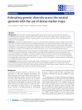 """Báo cáo sinh học: """"Estimating genetic diversity across the neutral genome with the use of dense marker maps"""""""