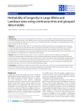 """Báo cáo sinh học: """" Heritability of longevity in Large White and Landrace sows using continuous time and grouped data models"""""""