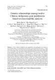 "Báo cáo sinh học: ""Genetic relationships among twelve Chinese indigenous goat populations based on microsatellite analysisGenetic relationships among twelve Chinese indigenous goat populations based on microsatellite analysis"""