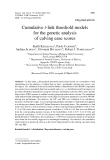 """Báo cáo sinh học: """"Cumulative t-link threshold models for the genetic analysis of calving ease scores"""""""