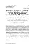 """Báo cáo sinh học: """" Estimation of the proportion of genetically unbalanced spermatozoa in the semen of boars carrying """""""