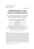 """Báo cáo sinh học: """" Estimating the frequency of Asian cytochrome B haplotypes in standard European and local Spanish pig breeds"""""""