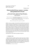 """Báo cáo sinh học: """"Mitochondrial D-loop sequence variation among Italian horse breeds"""""""