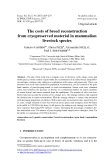 "Báo cáo sinh học: ""The costs of breed reconstruction from cryopreserved material in mammalian livestock species"""