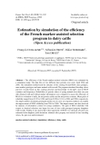 "Báo cáo sinh học: ""Estimation by simulation of the efficiency of the French marker-assisted selection program in dairy cattle (Open Access publication)"""