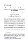 """Báo cáo sinh học: """"Data transformation for rank reduction in multi-trait MACE model for international bull comparison"""""""