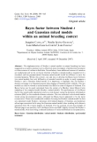 """Báo cáo sinh học: """" Bayes factor between Student t and Gaussian mixed models within an animal breeding context"""""""