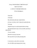 Giáo án Toán 11: Chương I. PHÉP DỜI HÌNH VÀ PHÉP ĐỒNG DẠNG TRONG MẶT PHẲNG