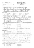 Đề kiểm tra 1 tiết Toán 12 - Hình Học