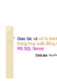 Giao tác và xử lý tranh chấp trong truy xuất đồng thời với MS SQL Server