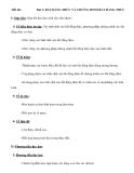 Tiết 40:  Bài 1: BẤT ĐẲNG THỨC VÀ CHỨNG MINH BẤT ĐẲNG THỨC