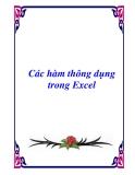 Một số hàm thông dụng trong Excel - Phạm Xuân Khu_ Ngọc Ánh