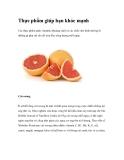 Thực phẩm giúp bạn khỏe mạnhmin, khoáng chất và các