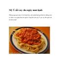 Mỳ Ý sốt cay cho ngày mưa lạnh