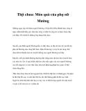 Thịt chua: Món quà của phụ nữ Mường
