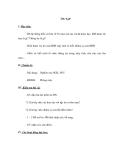 GIÁO ÁN MÔN TIN HỌC LỚP 6 - ÔN TẬP