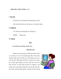 GIÁO ÁN MÔN TIN HỌC LỚP 6 - KIỂM TRA THỰC HÀNH (1 tiết)