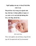 Nghề nghiệp của mẹ và khuyết tật bẩm sinh ở con