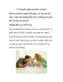 13 bí quyết giúp mẹ nuôi con khỏe