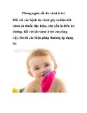 Phòng ngừa sốt do virut ở trẻ