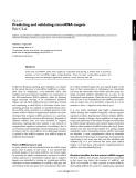 Predicting and validating microRNA targets