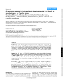 """Báo cáo y học: """"A genomic approach to investigate developmental cell death in woody tissues of Populus trees"""""""