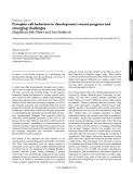 "Báo cáo y học: ""Complex cell behaviors in development: recent progress and emerging challenges"""