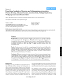 """Báo cáo y học: """" Functional analysis of human and chimpanzee promoters"""""""