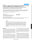 """Báo cáo y học: """"E-Predict: a computational strategy for species identification based on observed DNA microarray hybridization patterns"""""""