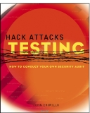 hack attacks testing how to conduct your own security phần 1