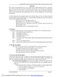 Bài giảng thực hành xử lý nước thải ( Th.s. Lâm Vĩnh Sơn ) - Bài mở đầu