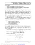 Bài giảng thực hành xử lý nước thải ( Th.s. Lâm Vĩnh Sơn ) - Bài 1