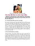 10 chủ đề thú vị cho hẹn đầu