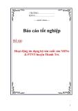 Luận văn: Hoạt động tín dụng hộ sản xuất của NHNo & PTNT huyện Thanh Trì.